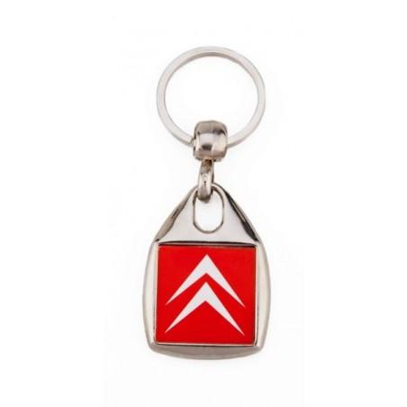 Porte-clé publicitaire métal carré galbé 2 faces