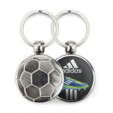 Porte-clé publicitaire métal ballon de foot