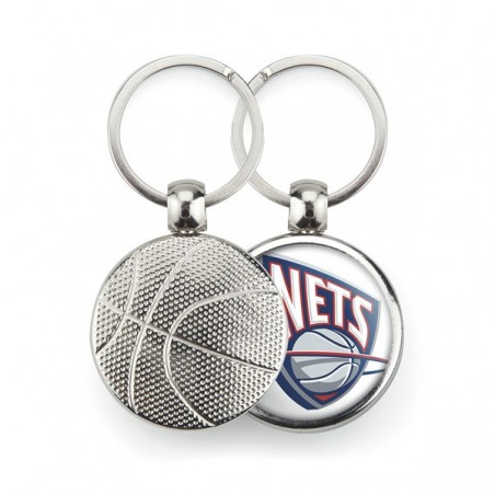 Porte-clé publicitaire métal ballon de basket